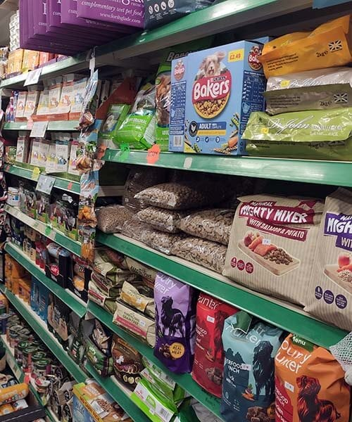 Some of the dog food range